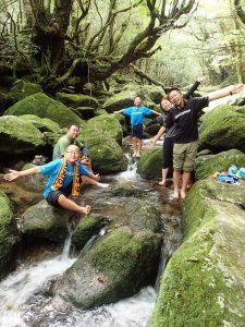 白谷雲水峡もののけの森トレッキング,沢遊び